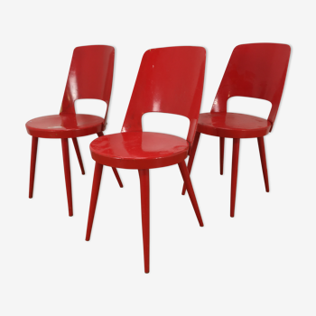 Set de 3 chaises Baumann Mondor