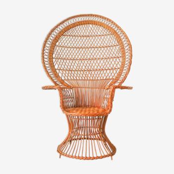 Chaise de paon emblématique «emanuelle», années 1970