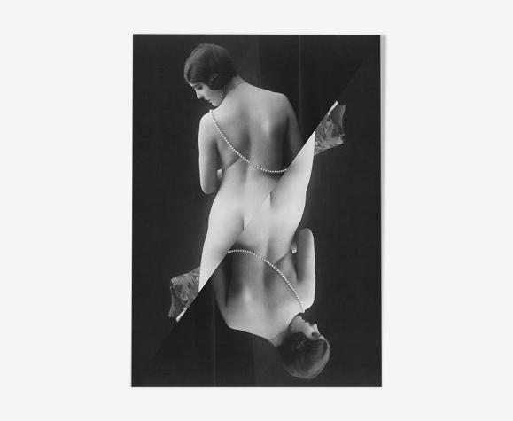 Photographie vintage femme cabaret 1900 - A4