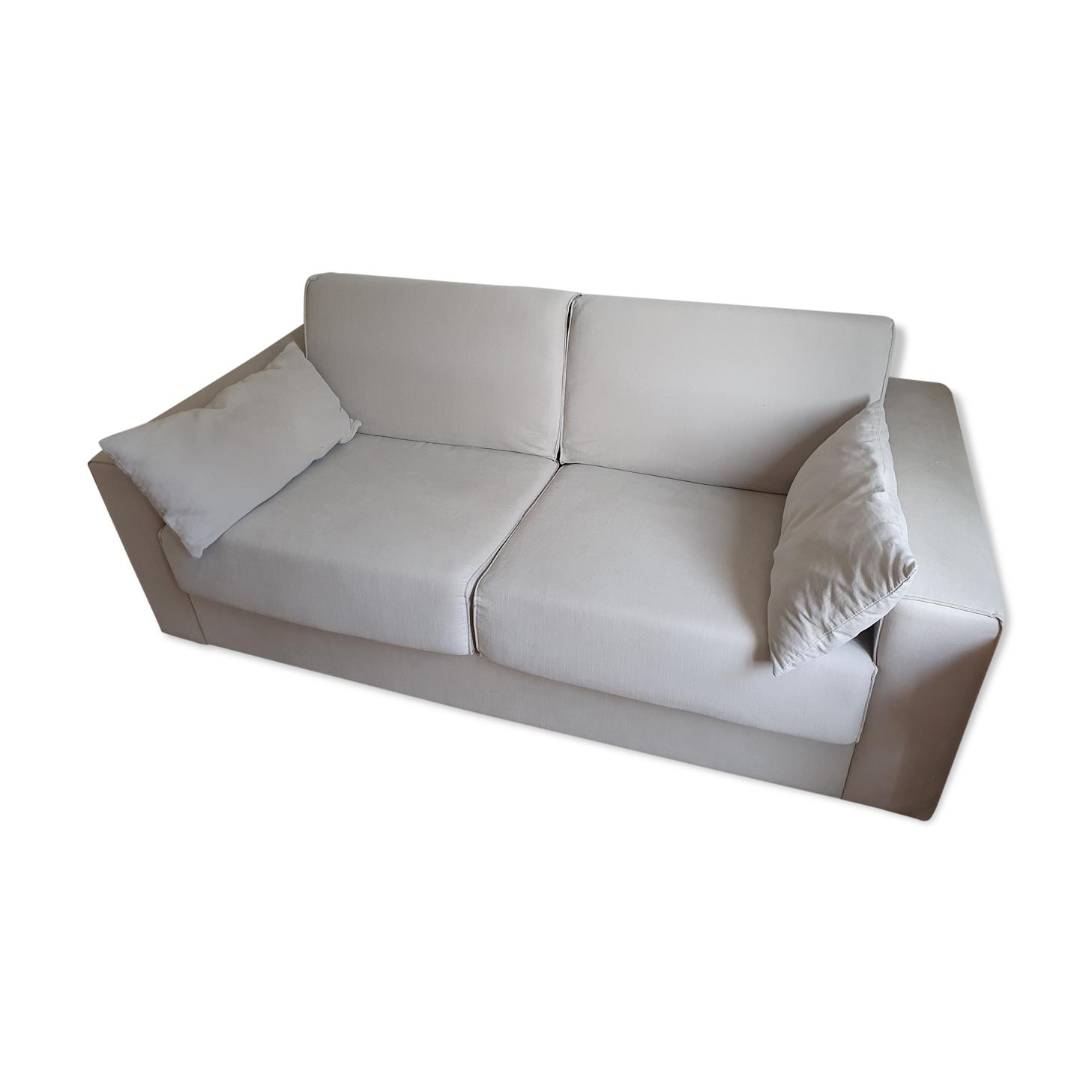 Canapé convertible lit beige