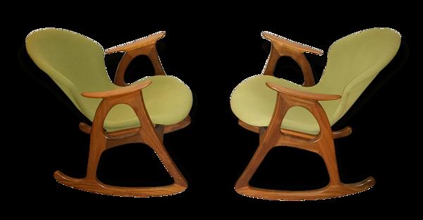 1/2 fauteuil Rocking chair Danois de Aage Christiansen for Erhardsen & Andersen