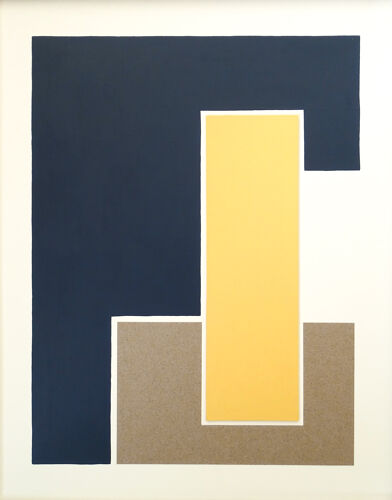 Triptyque Bleu jaune terre n°1