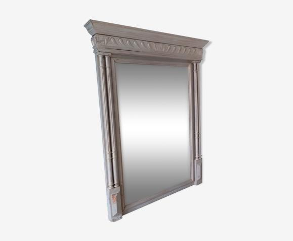 Miroir ancien patiné 91x114cm