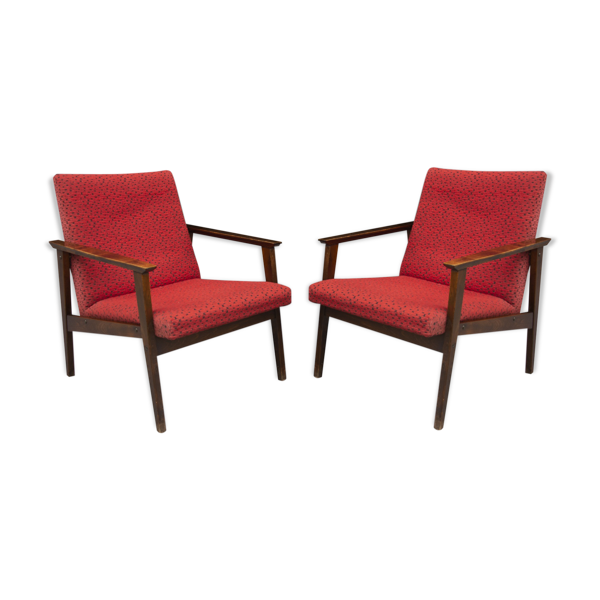 Paire de fauteuils de style danois au milieu du siècle 1960´s