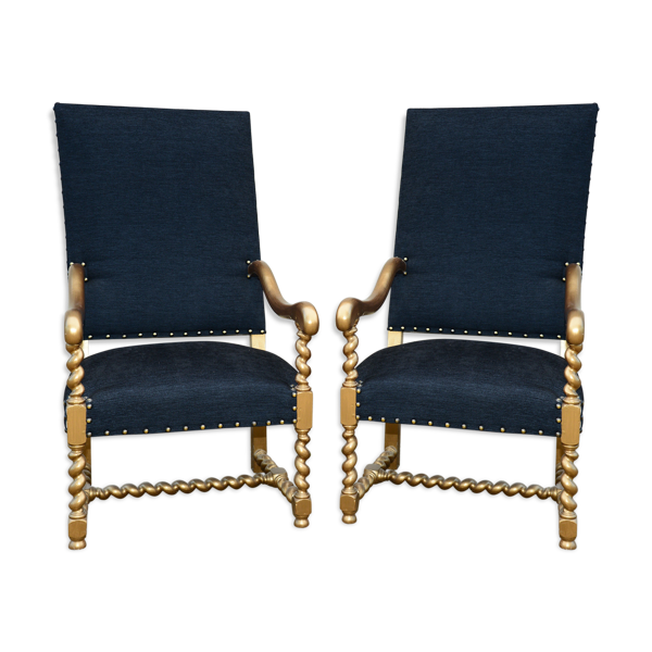 Paire de fauteuils Louis XIII