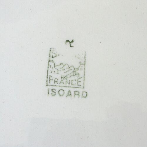 Ancien plat à tarte rond avec anses de la faïencerie française SALINS Modèle ISOARD