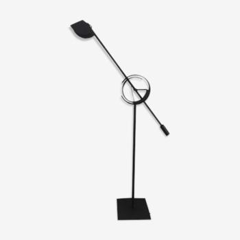 Lampadaire « Il Tempo » Relco Italia en acier laqué noir mat