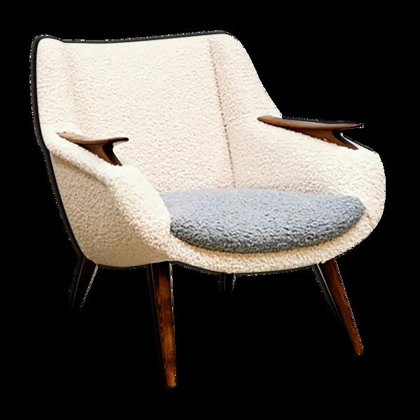 Fauteuil design danois midcentury