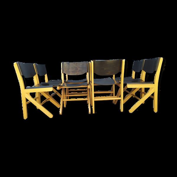 Set de 8 chaises bistrot Baumann