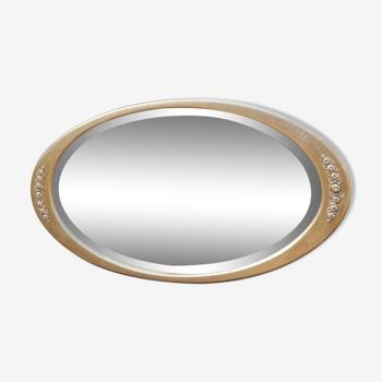 Miroir ancien doré style Art déco 120cm x 65cm