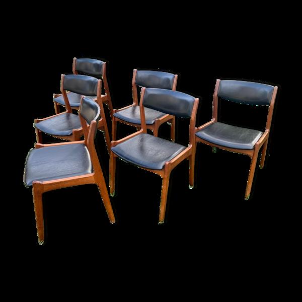 Suite de 6 chaises scandinaves «Soro Stolefabrik» années 60