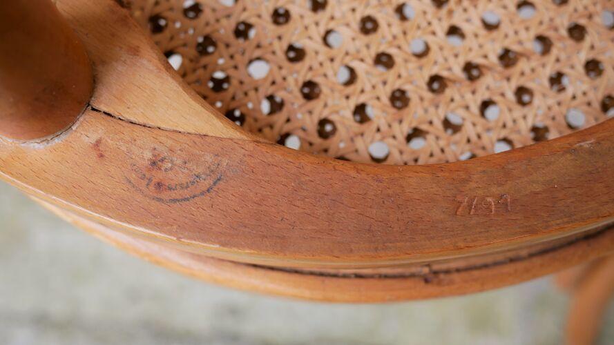 Chaise bistrot cannée vintage