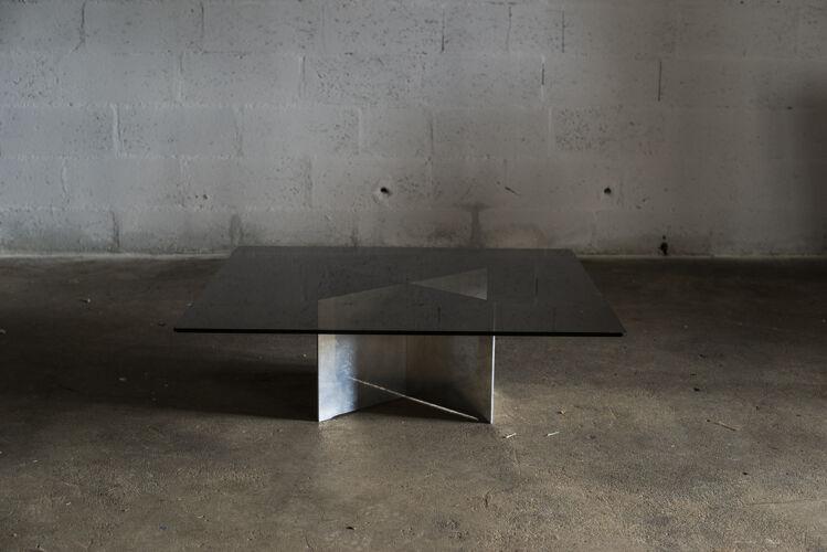Table basse en verrre