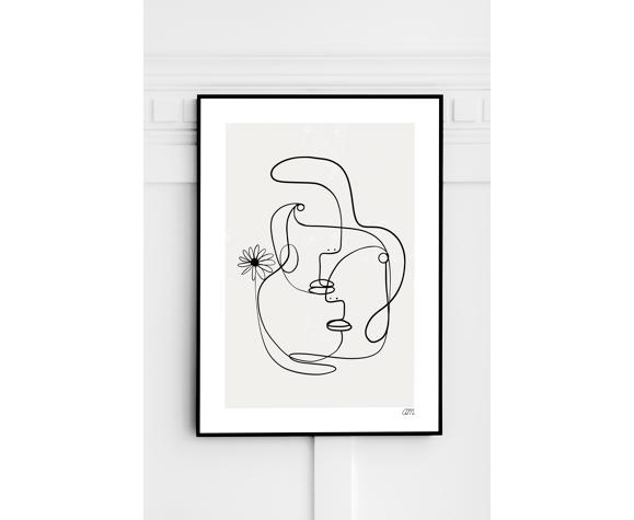 """Illustration n°03 """" L'étreinte """" - Série """" La ligne printanière """""""