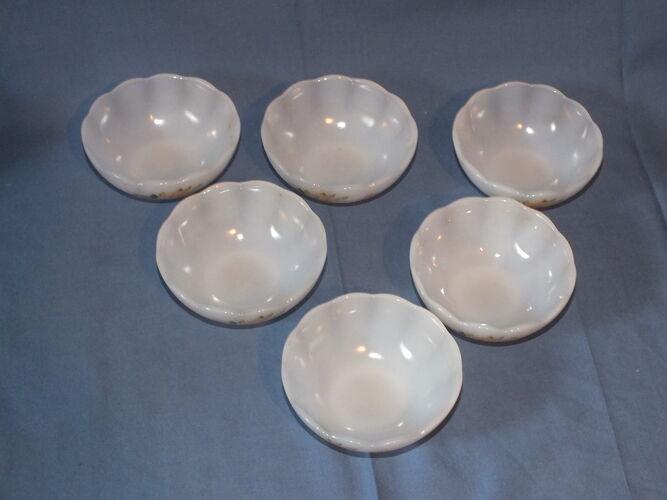 Set de 6 coupelles à dessert Arcopal décor de roses