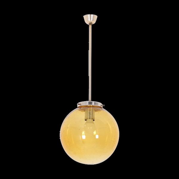 Suspensions globes en verre soufflé sur tige