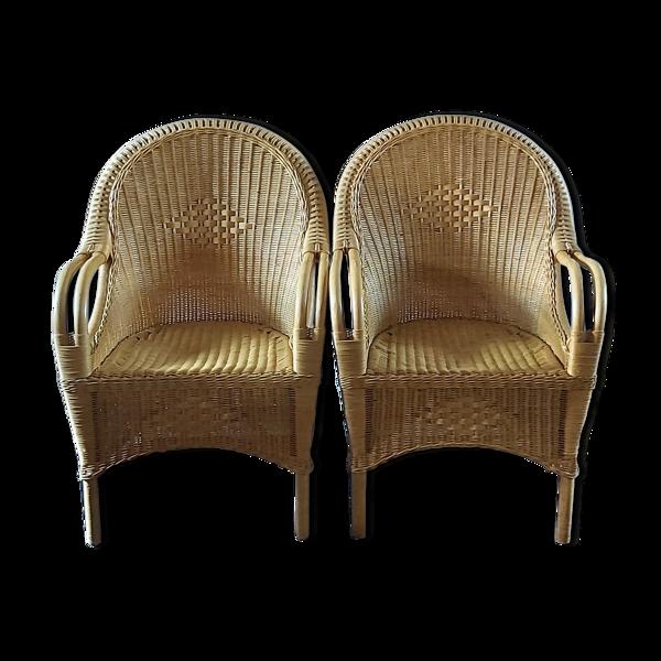 Selency Paire de fauteuils années 1980