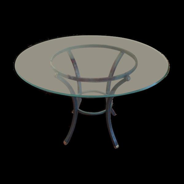 Table ronde verre villa d'este Pierre Vandel