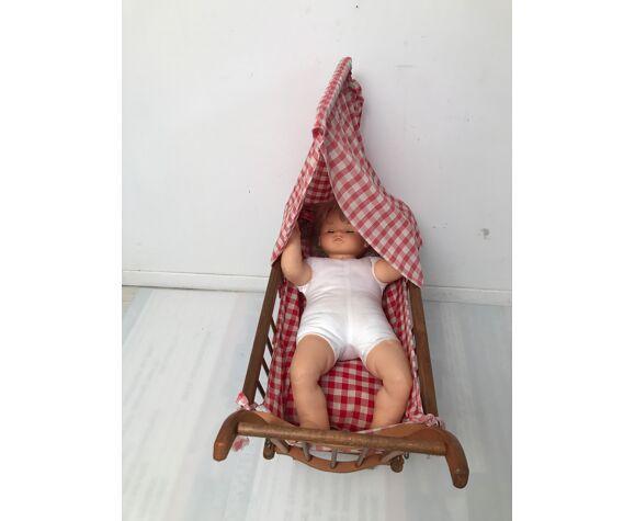 Lit landau Dejou  pour poupée années 60