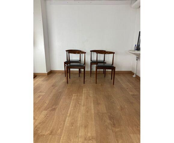 Série de 4 chaises scandinaves vintage
