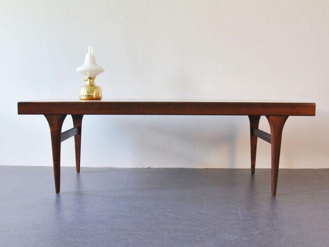 Table basse en palissandre par Johannes Andersen pour CFC Silkeborg 1960s