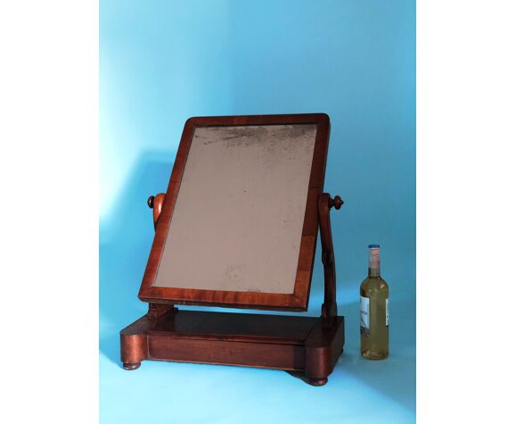 Miroir anglais antique de vanité 56x72cm
