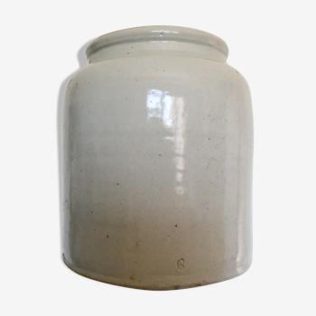 Pot en grès émaillé ancien pot à moutarde 5 litres vintage