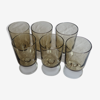 Lot 6 verres luminarc collection Suède