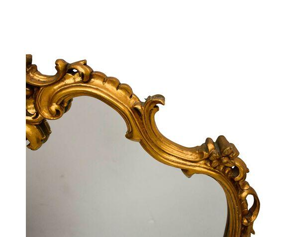 Large Mirror Arabesque Gold Frame, Baroque Style Gold Mirror