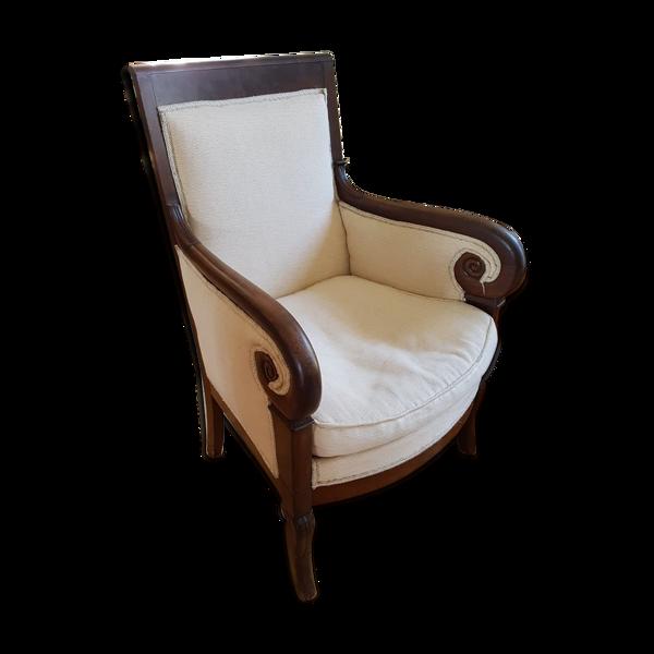 Bergère fauteuil 19e