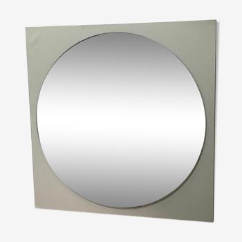 Miroir rond sur support stratifié