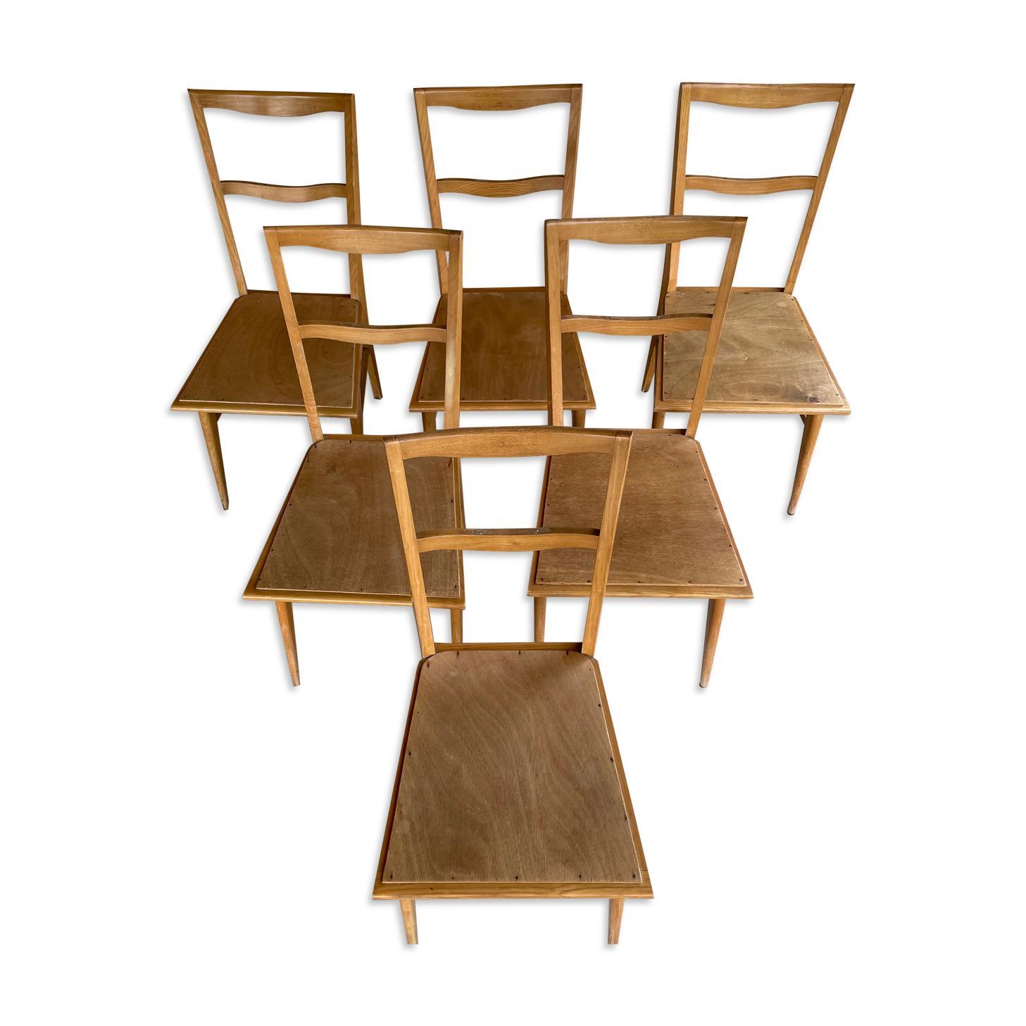 Lot de 6 chaises designs et vintages