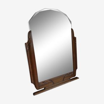 Miroir biseauté boisé 76x103cm