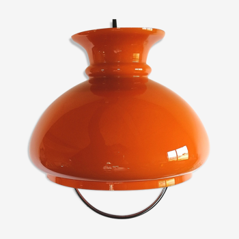 "Suspension vintage suspension opaline ""Orange"""