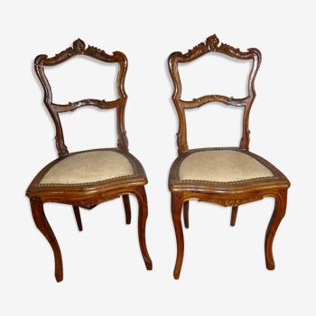 Paire de chaises Louis XV