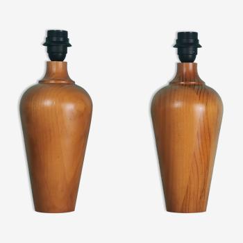 Pieds de lampe bois