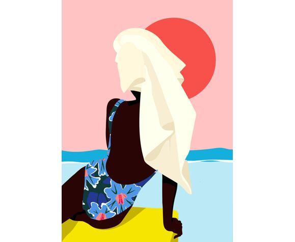 Biarritz - illustration en édition limitée, format A3 Elisa Brouet