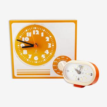 Ensemble de deux horloges Jaz vintage