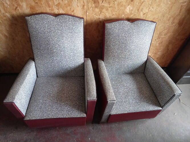 Pair of vintage armchairs