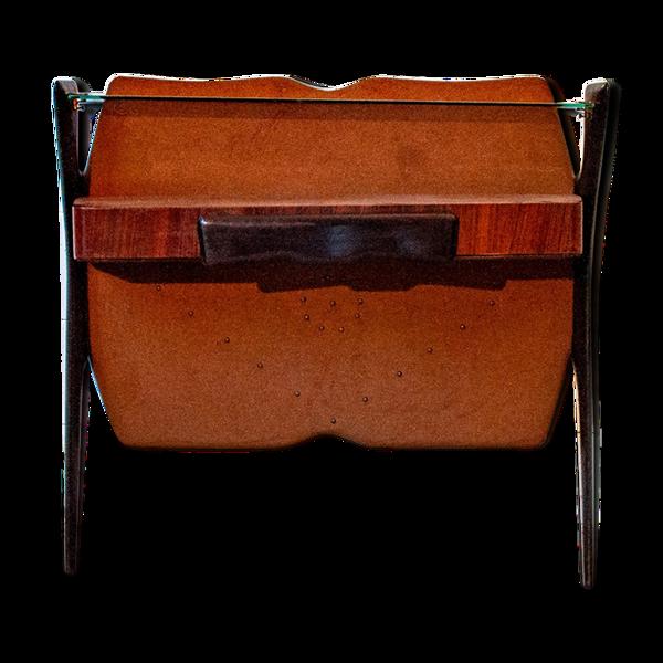 Console en bois vintage Italie années 1950