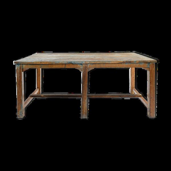 Selency Table en bois patiné