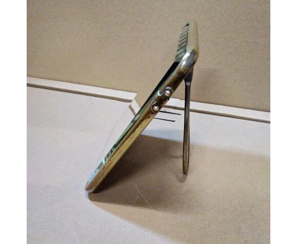 Miroir de barbier art deco 12x17cm