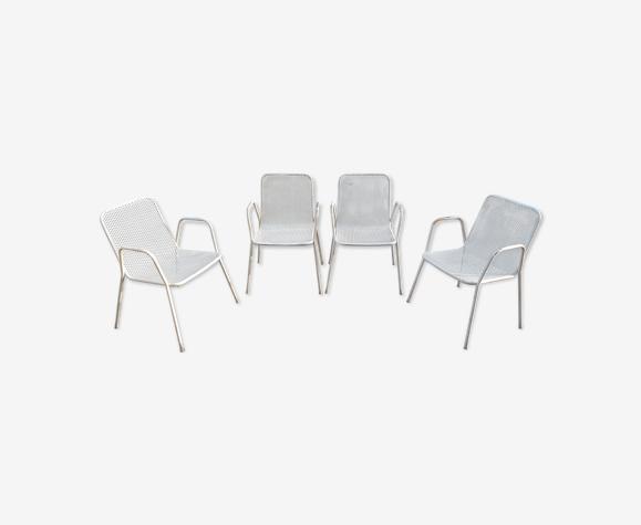 Lot de 4 chaises de jardin Emu