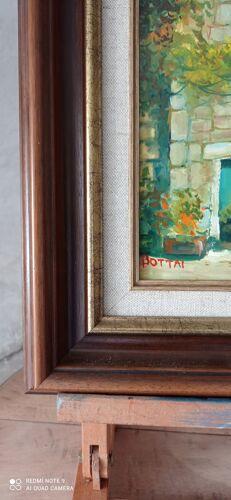Peinture à l'huile sur panneau encadrée