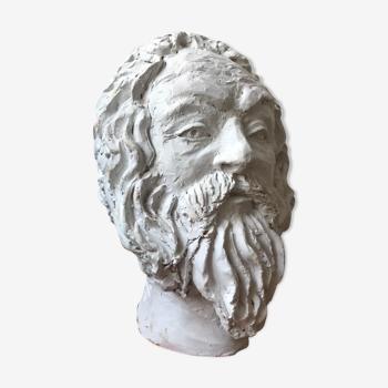 Tête  plâtre philosophe Socrate