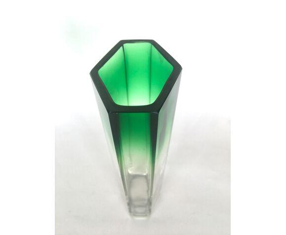 Vase verre géométrique coloris dégradé