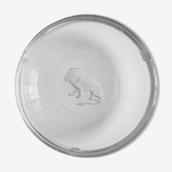 Cendrier lion en cristal Val Saint Lambert