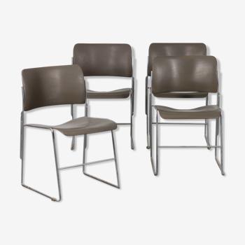 Lot de 4 chaises de David Rowland