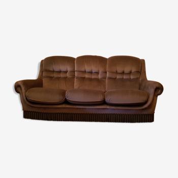 Canapé velours années 70/80