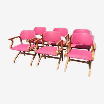 Série de fauteuils vintage thermo plié